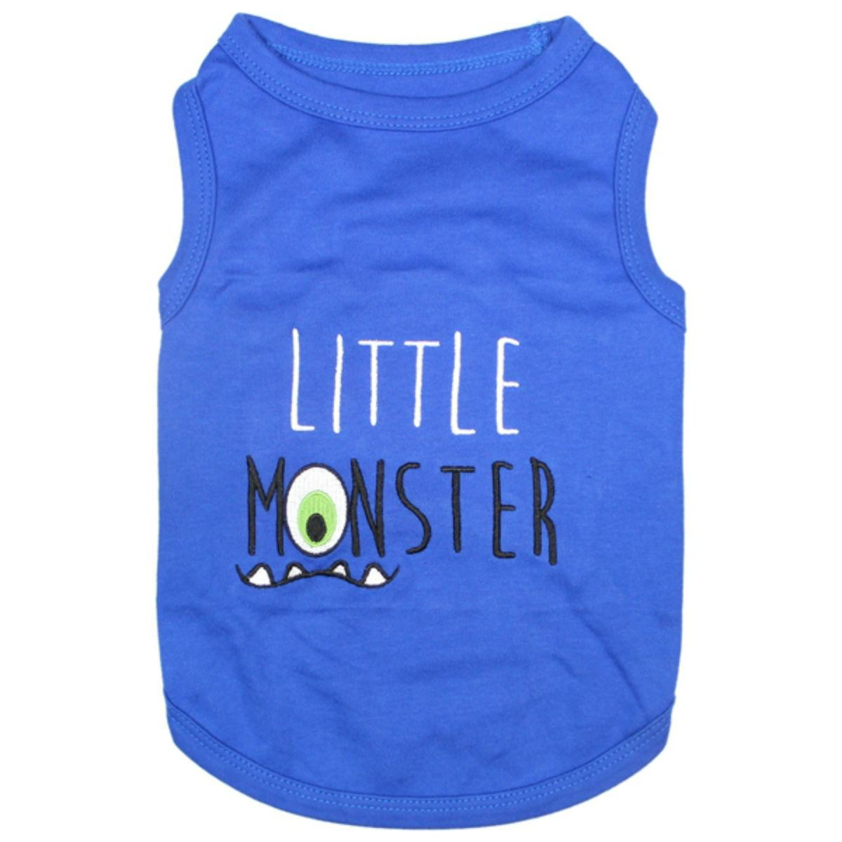 Little Monster Dog Tank by Parisian Pet - Blue