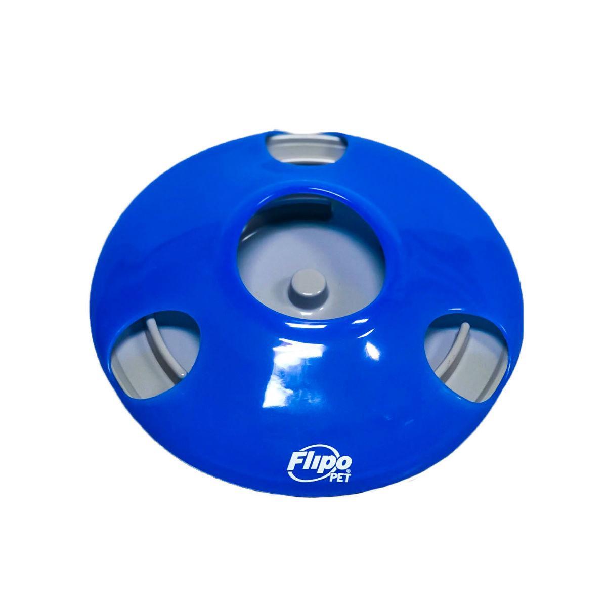 U.F.O. - Ultimate Feeding Object Pet Slow Feeder or Treat Dispenser - Blue