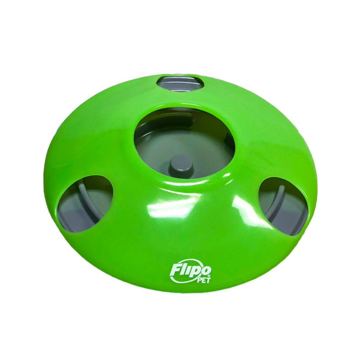 U.F.O. - Ultimate Feeding Object Pet Slow Feeder or Treat Dispenser - Green