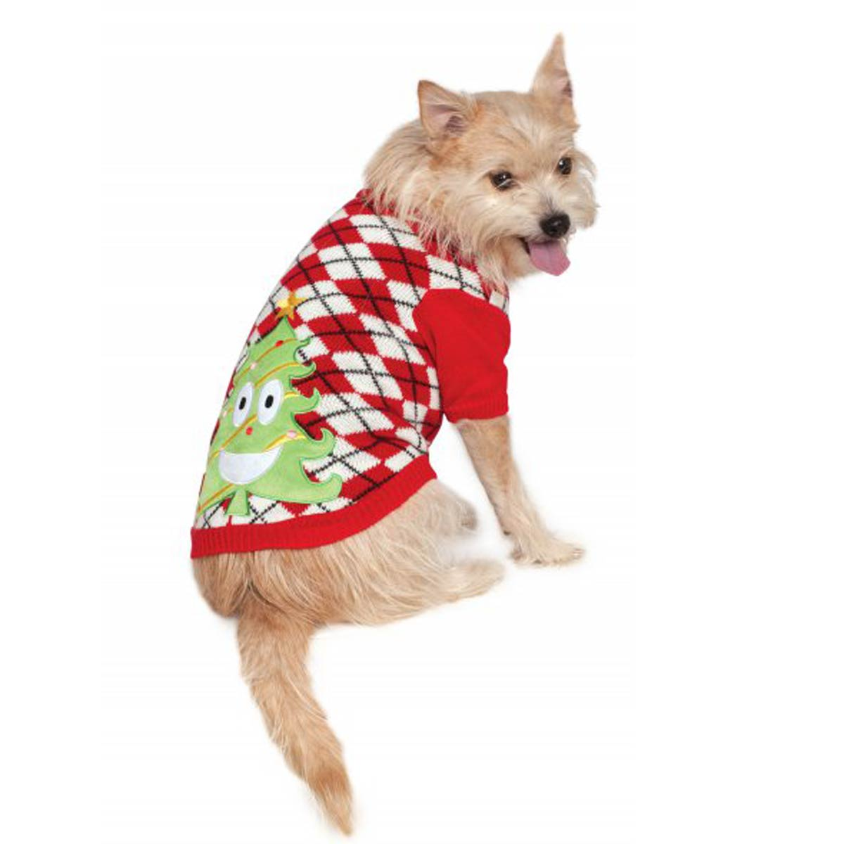 Ugly Christmas Dog Sweater - Happy Tree