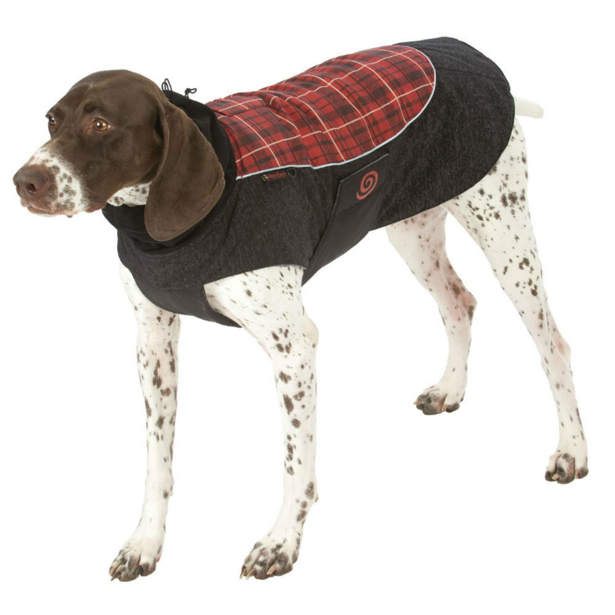Ultra Paws Comfort Reflective Dog Coat - Red Plaid