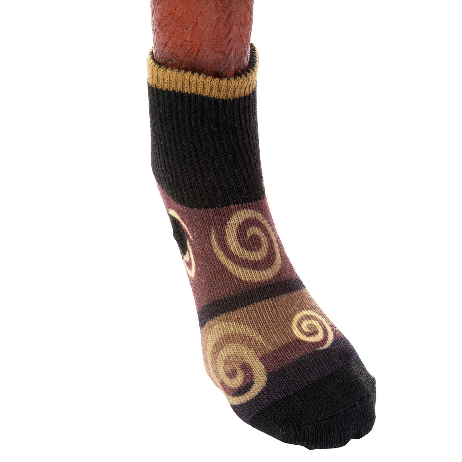 Ultra Paws Doggie Socks - Oakley Brown/Black