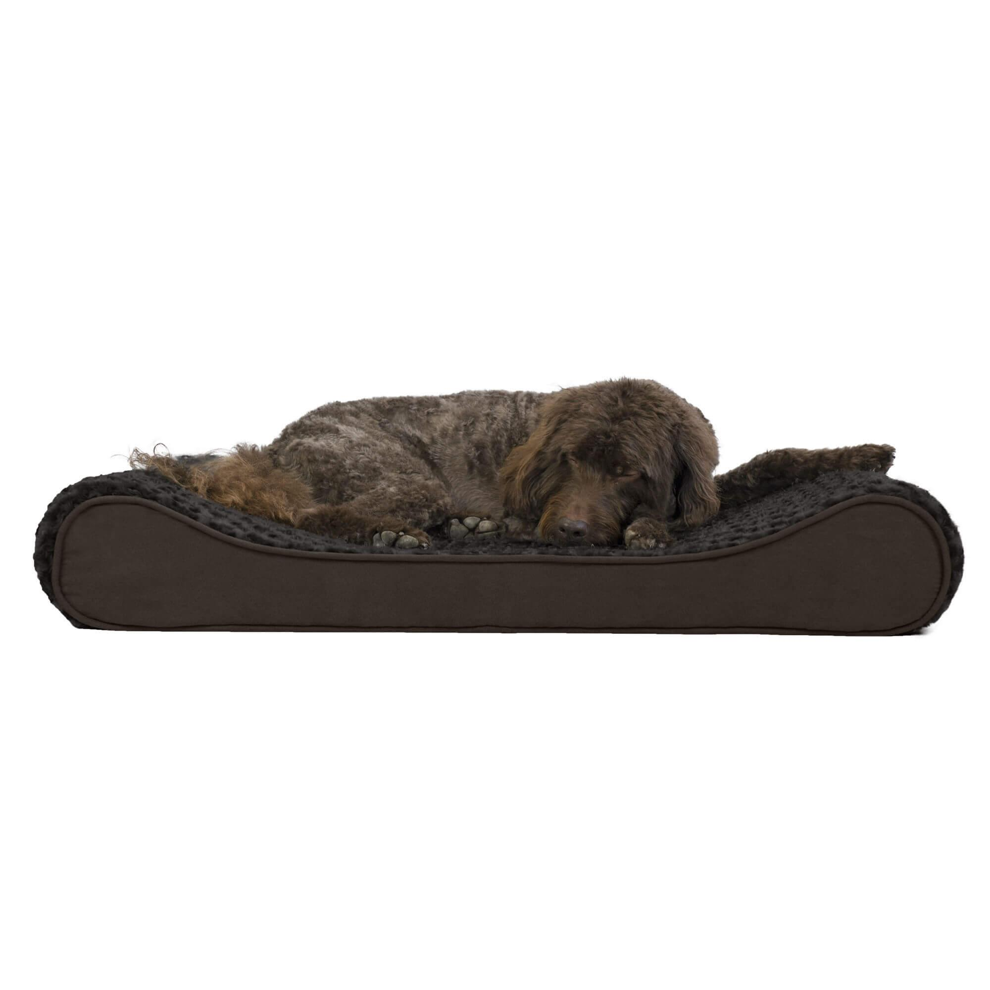 Ultra Plush Luxe Lounger Orthopedic Dog Bed - Chocolate