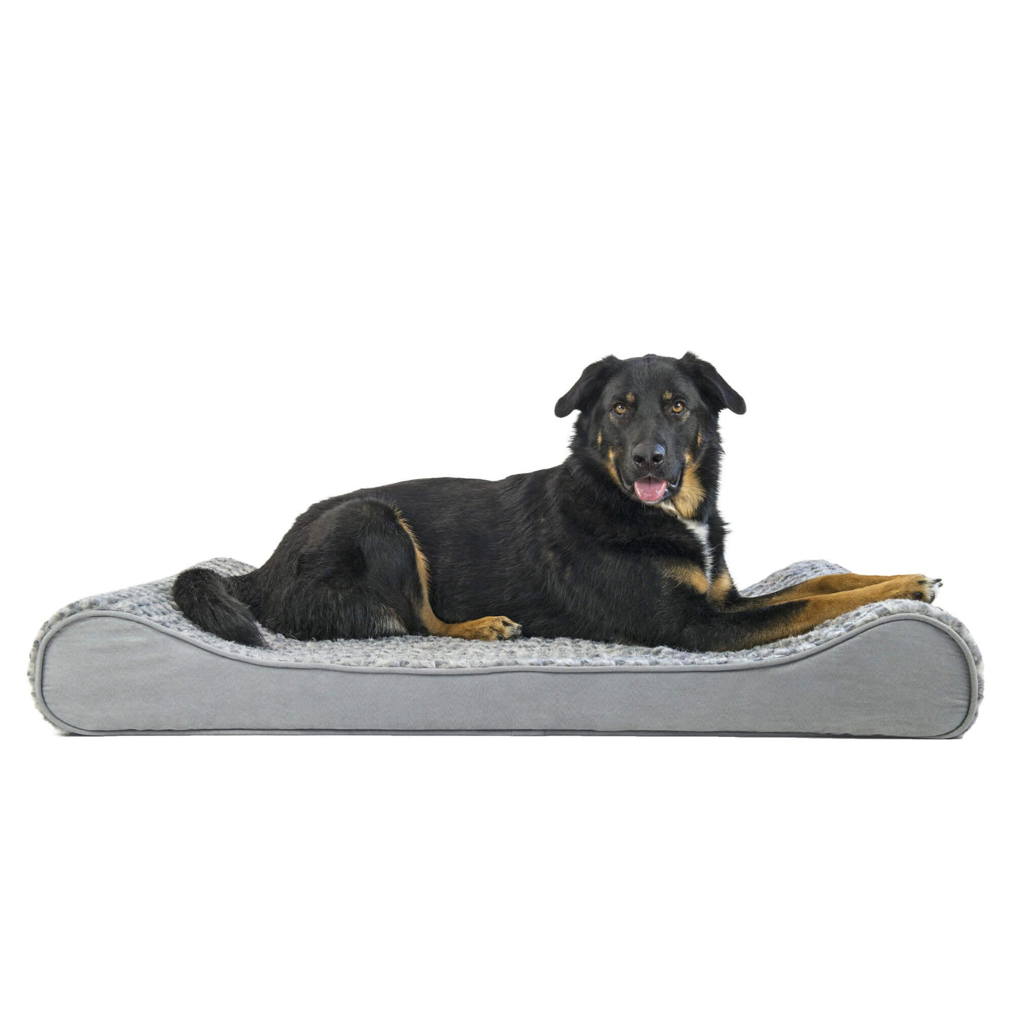 Ultra Plush Luxe Lounger Orthopedic Dog Bed - Gray