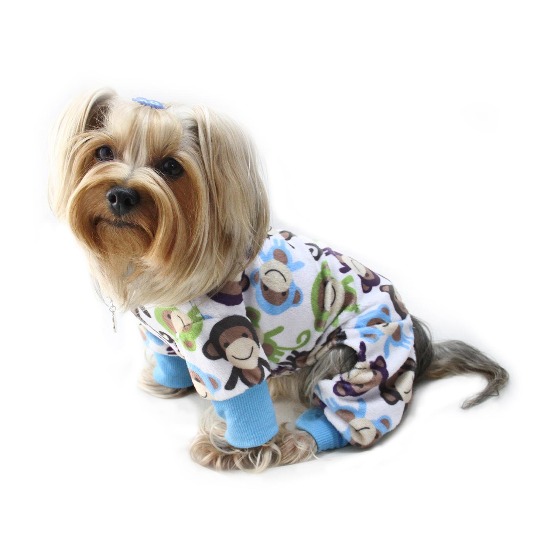 Ultra Soft Minky Monkey Dog Pajamas By Klippo