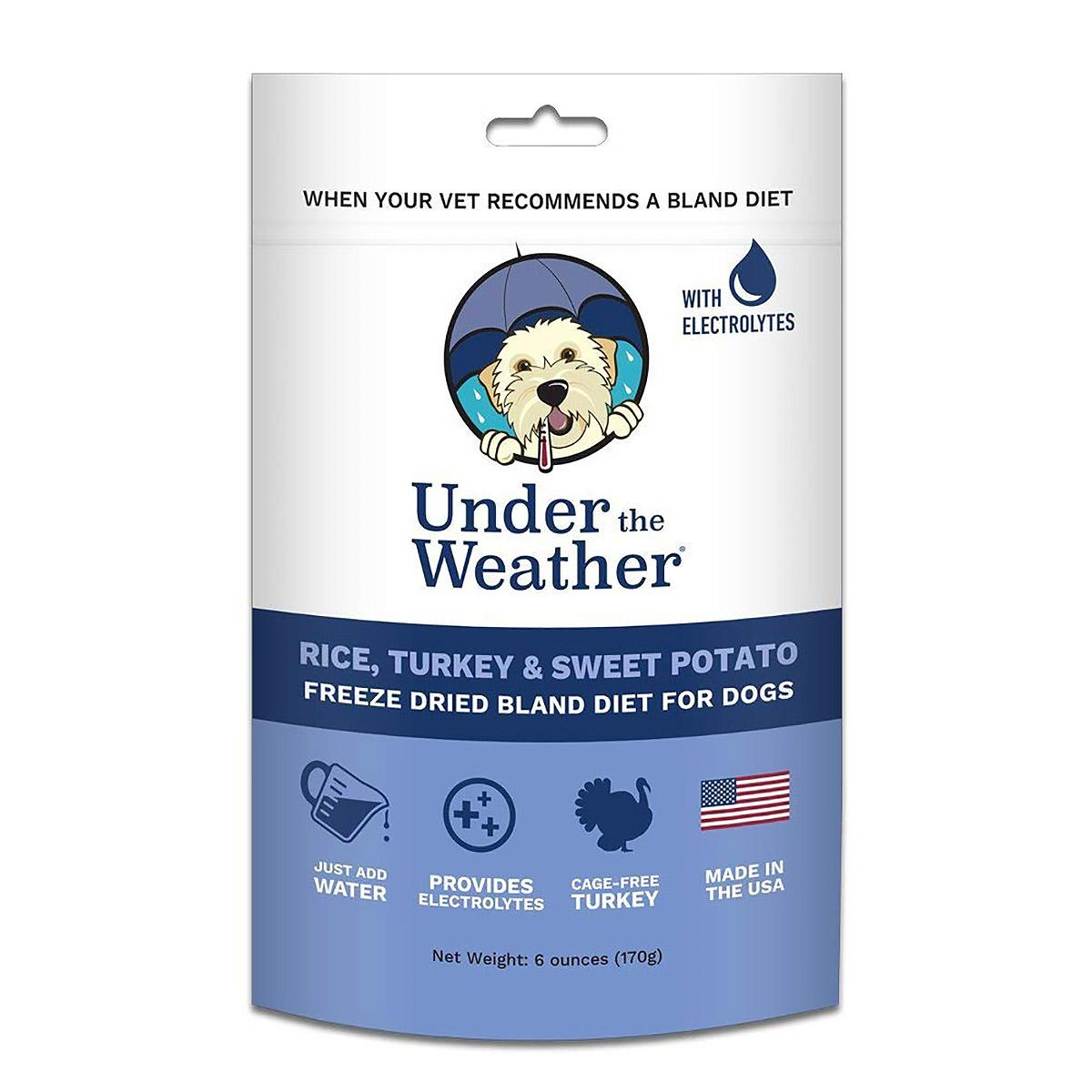 Under the Weather Freeze-Dried Bland Diet for Dogs - Rice, Turkey and Sweet Potato