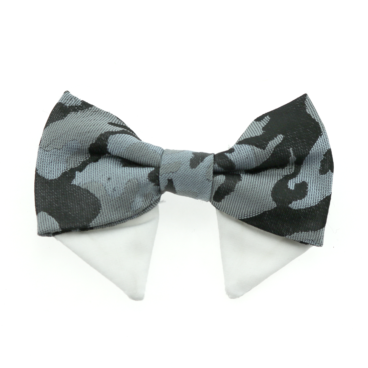 Dog Bow Tie Collar Attachment by Doggie Design - Gray Camo