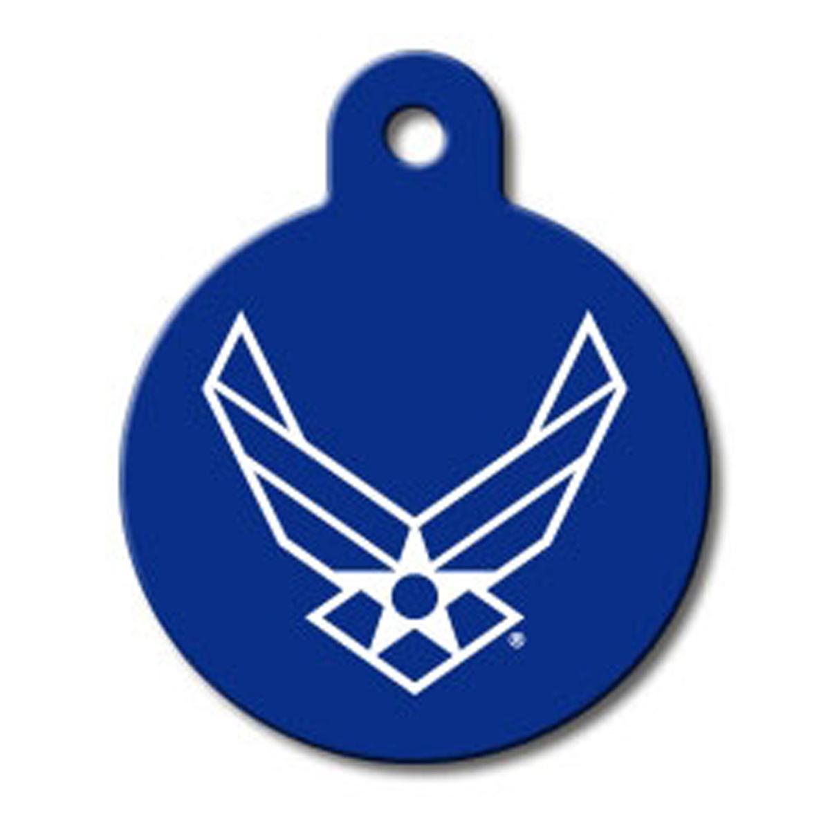 U.S. Air Force Engravable Pet I.D. Tag - Large Circle