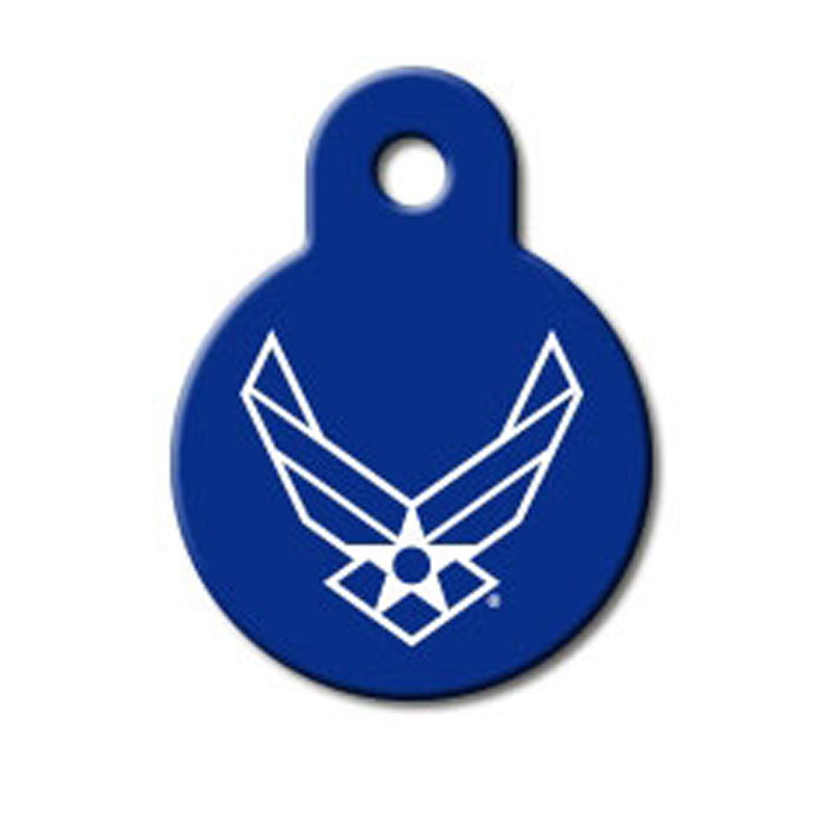 U.S. Air Force Engravable Pet I.D. Tag - Small Circle
