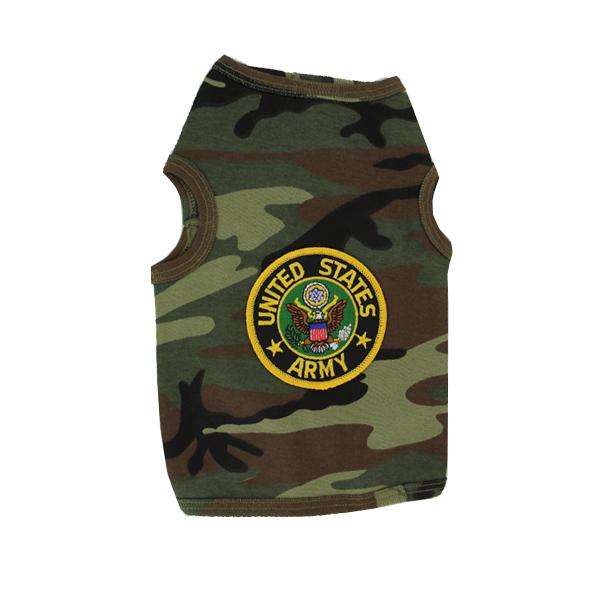 U.S. Army Crest Dog Tank Top - Camo