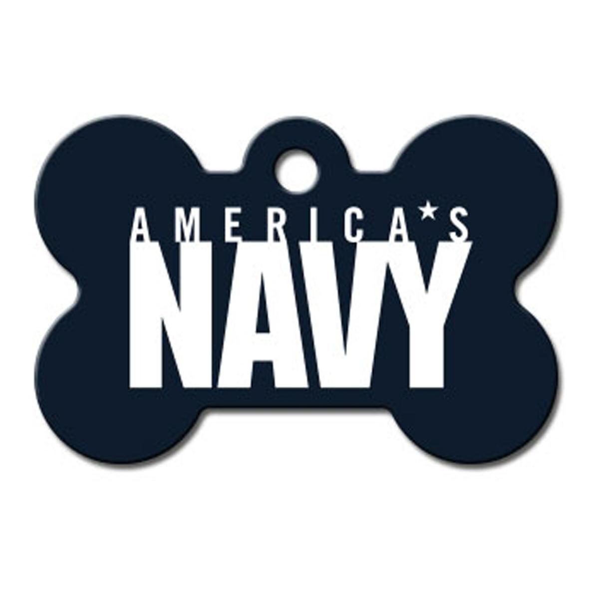 U.S. Navy Engravable Pet I.D. Tag - Large Bone