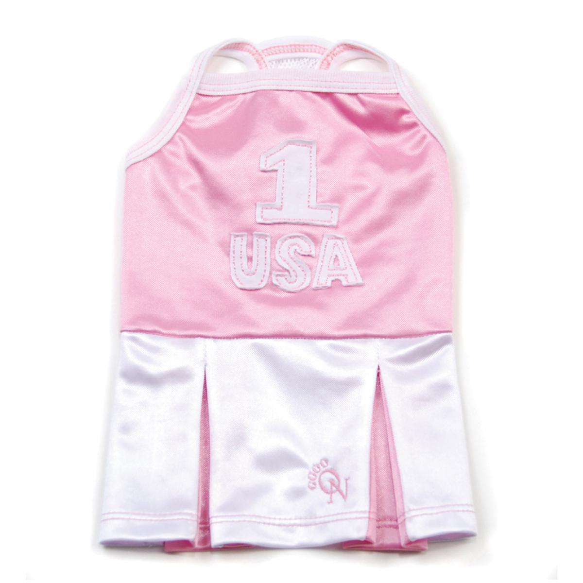USA Sporty Chic Tank Dog Dress by Oscar Newman - Pink