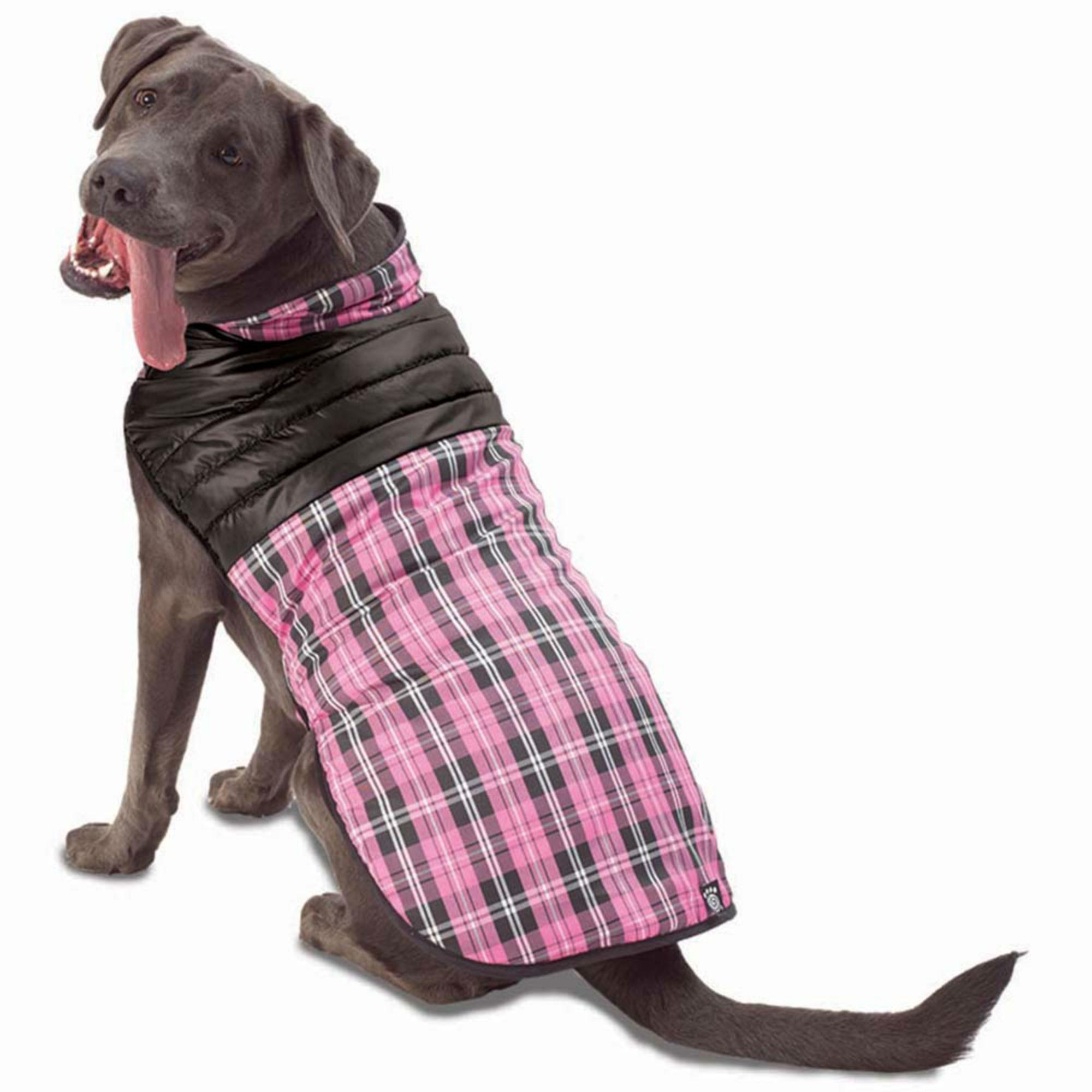 Vail Dog Vest - Pink Plaid
