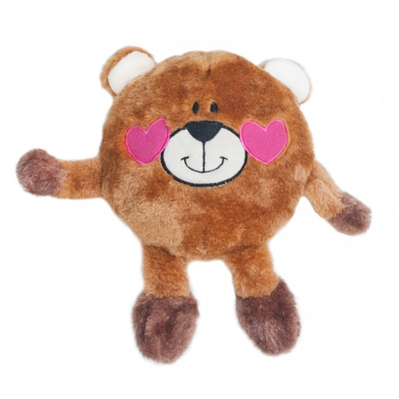 Valentine's Brainey Dog Toy - Bear