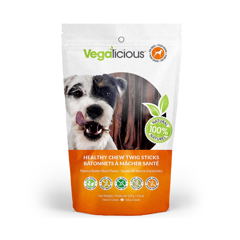 Vegalicious Healthy Chew Twig Sticks Dog Treat - Peanut Butter Blast