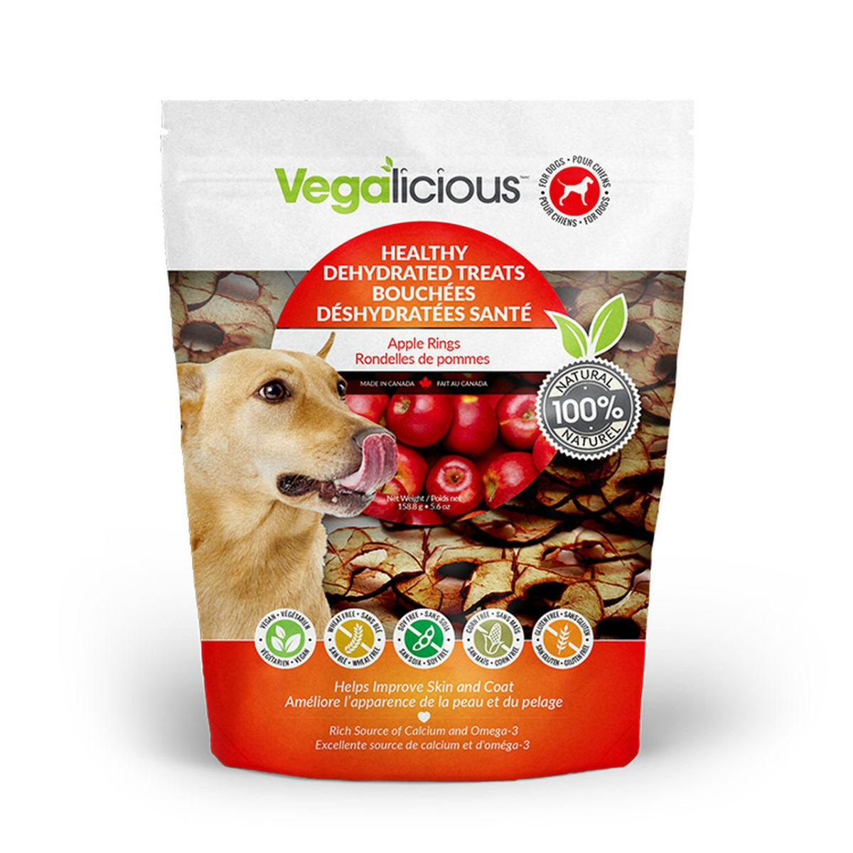 Vegalicious Healthy Dehydrated Dog Treats - Apple Rings