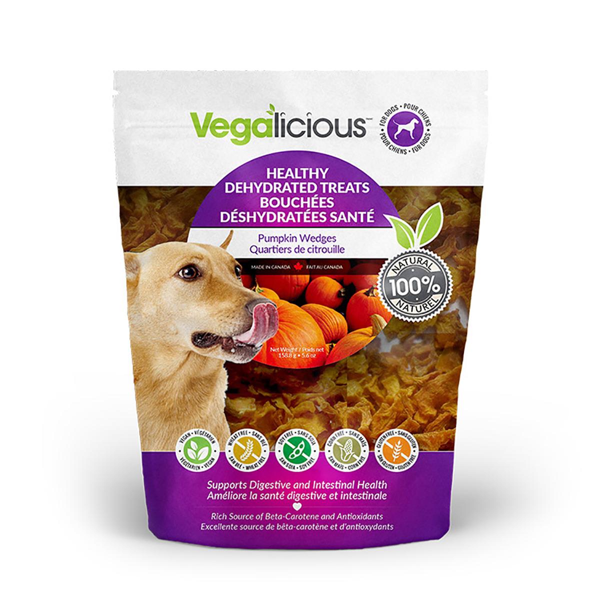 Vegalicious Healthy Dehydrated Dog Treats - Pumpkin Wedges