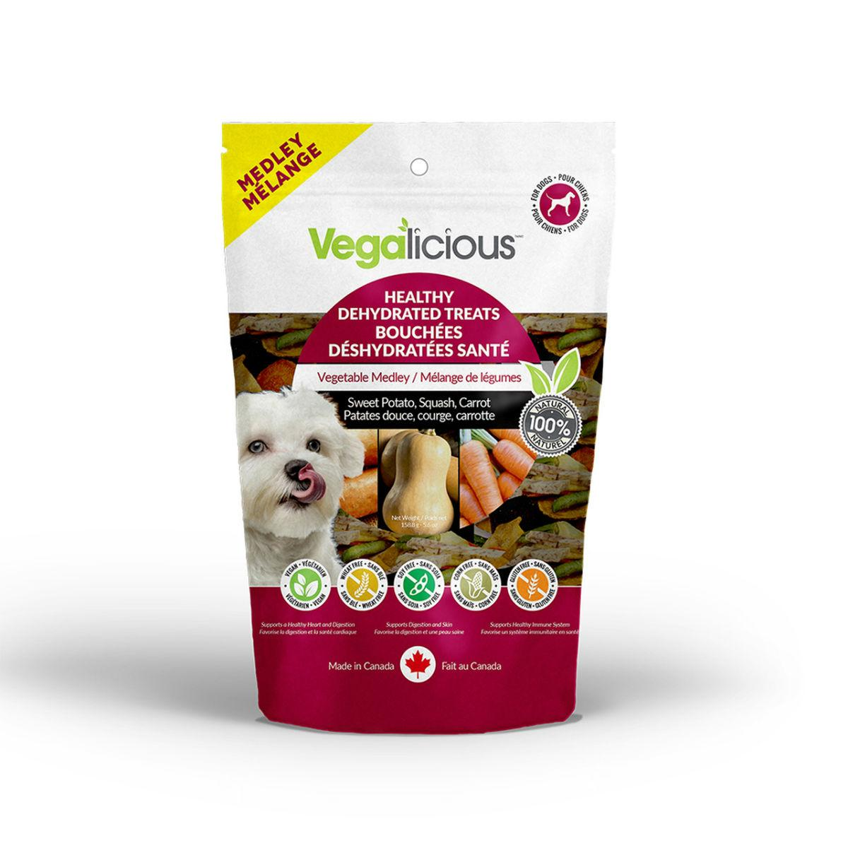 Vegalicious Healthy Dehydrated Vegetable Medley Dog Treat – Sweet Potato, Squash, Carrot