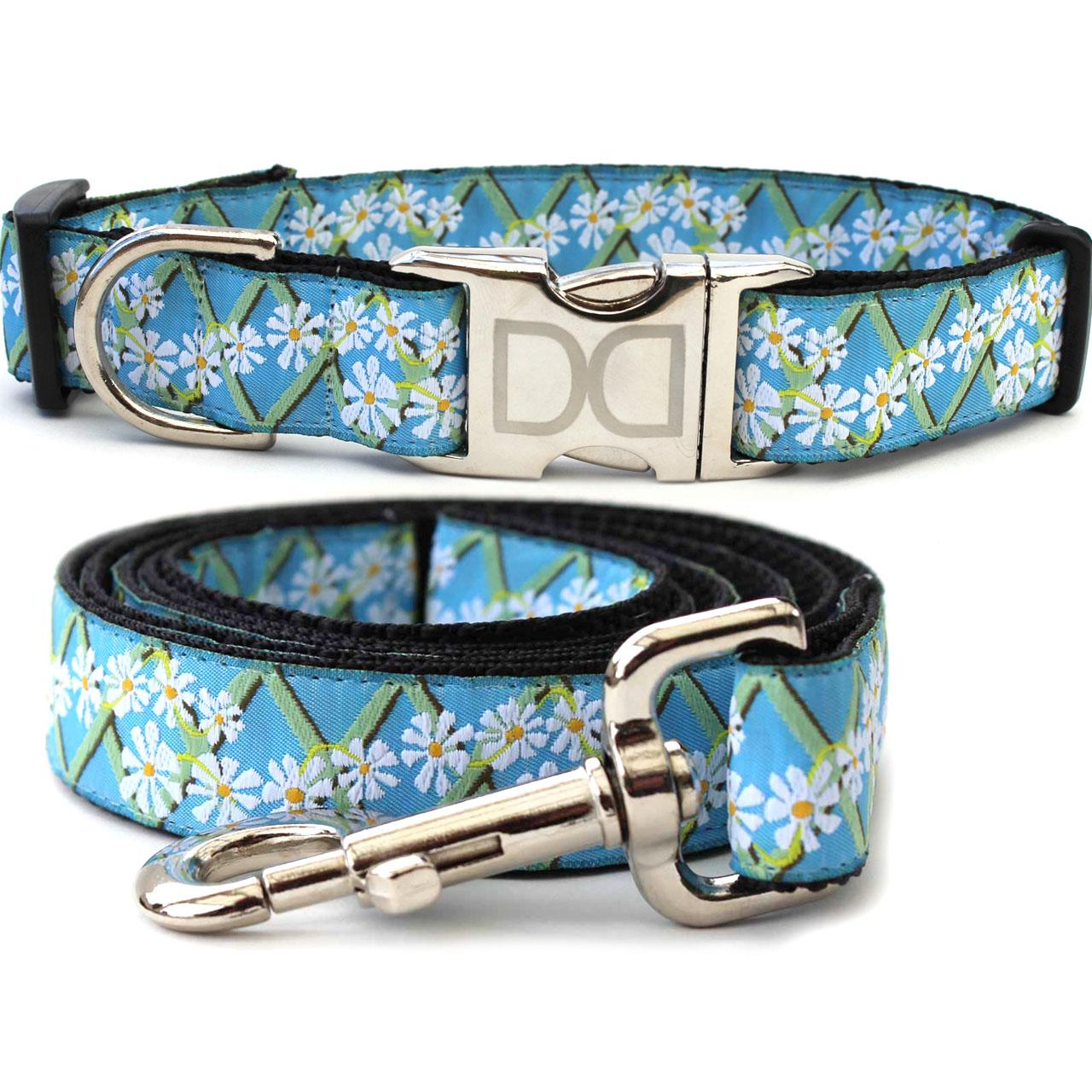 Daisy Dog Collar and Leash Set by Diva Dog