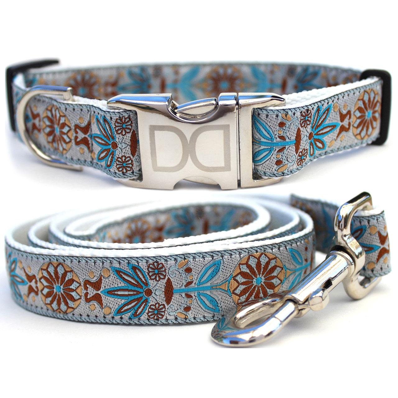 Boho Morocco Dog Collar and Leash Set by Diva Dog