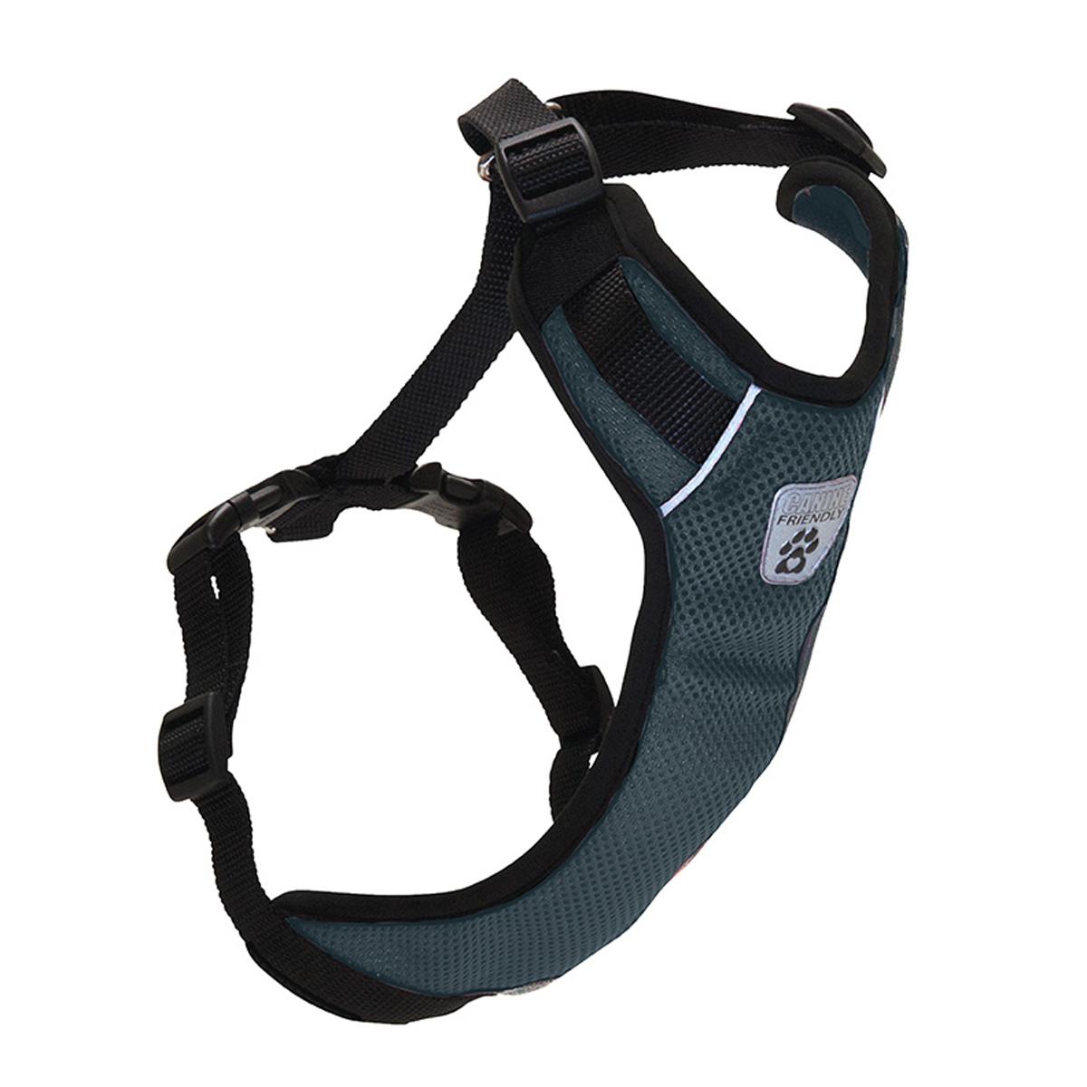 Vented Vest Car Seat Dog Harness - V2 Charcoal