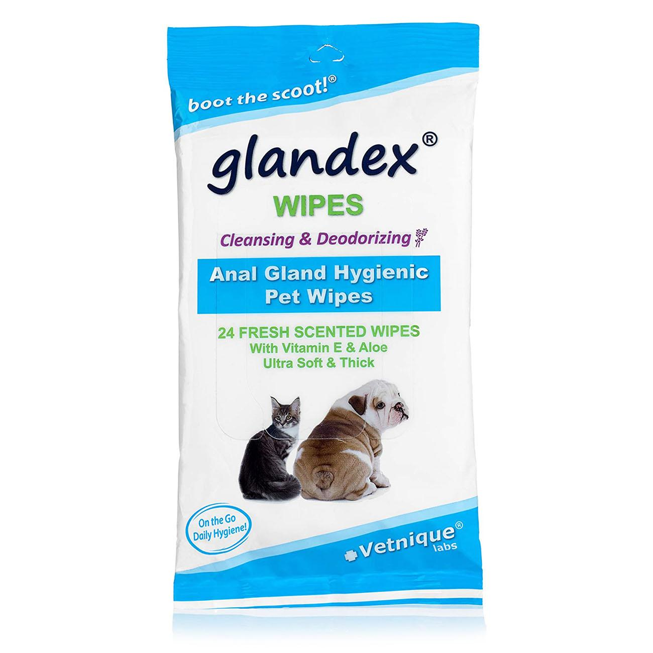 Vetnique Glandex Anal Gland Pet Wipes