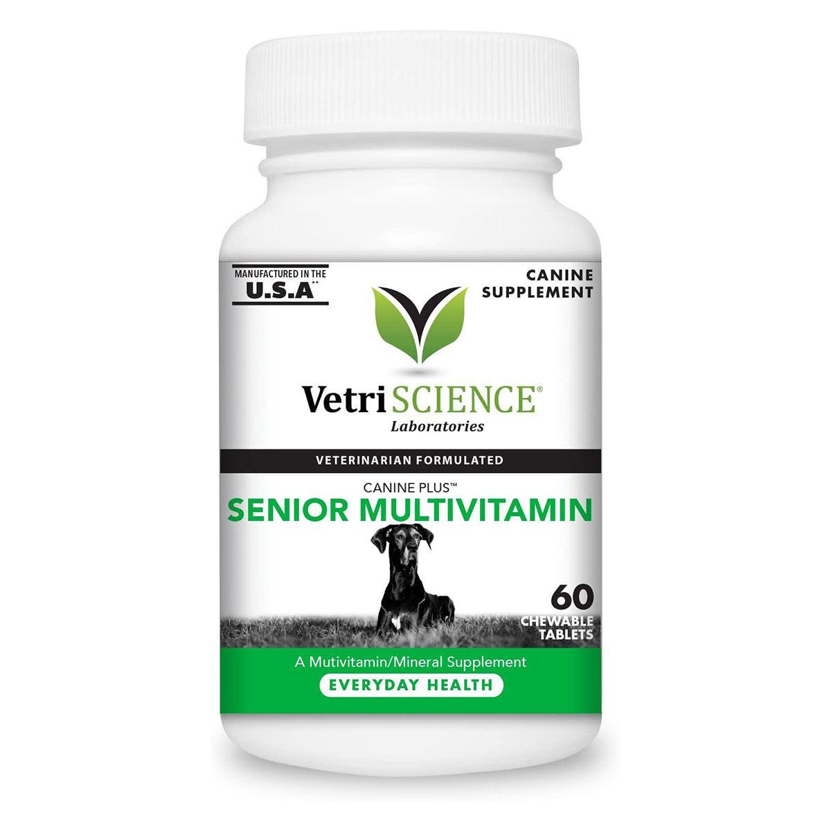 VetriScience Canine Plus Senior Multivitamin Dog Chewable Tablets