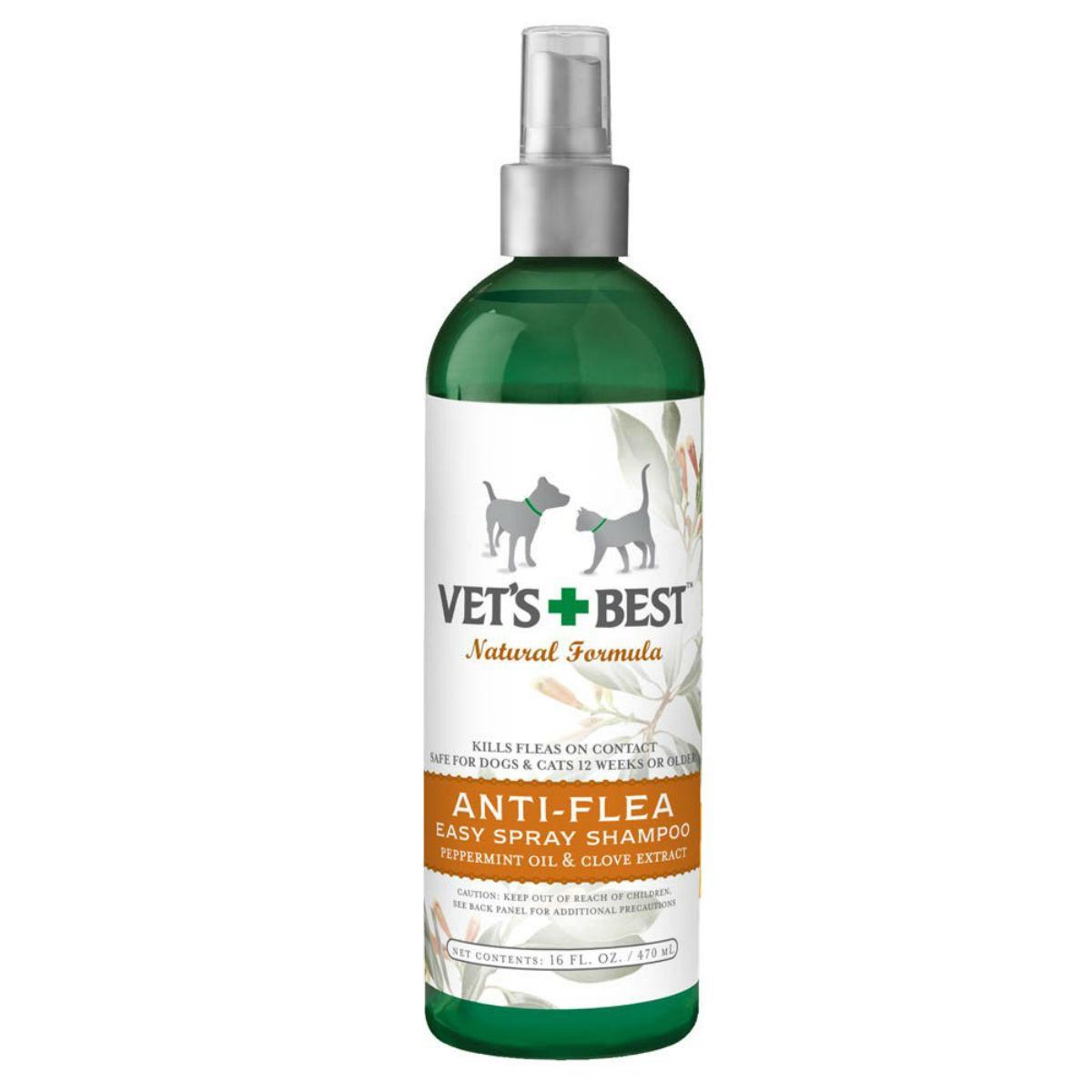 Vet's Best Natural Anti-Flea Easy Spray Dog and Cat Shampoo