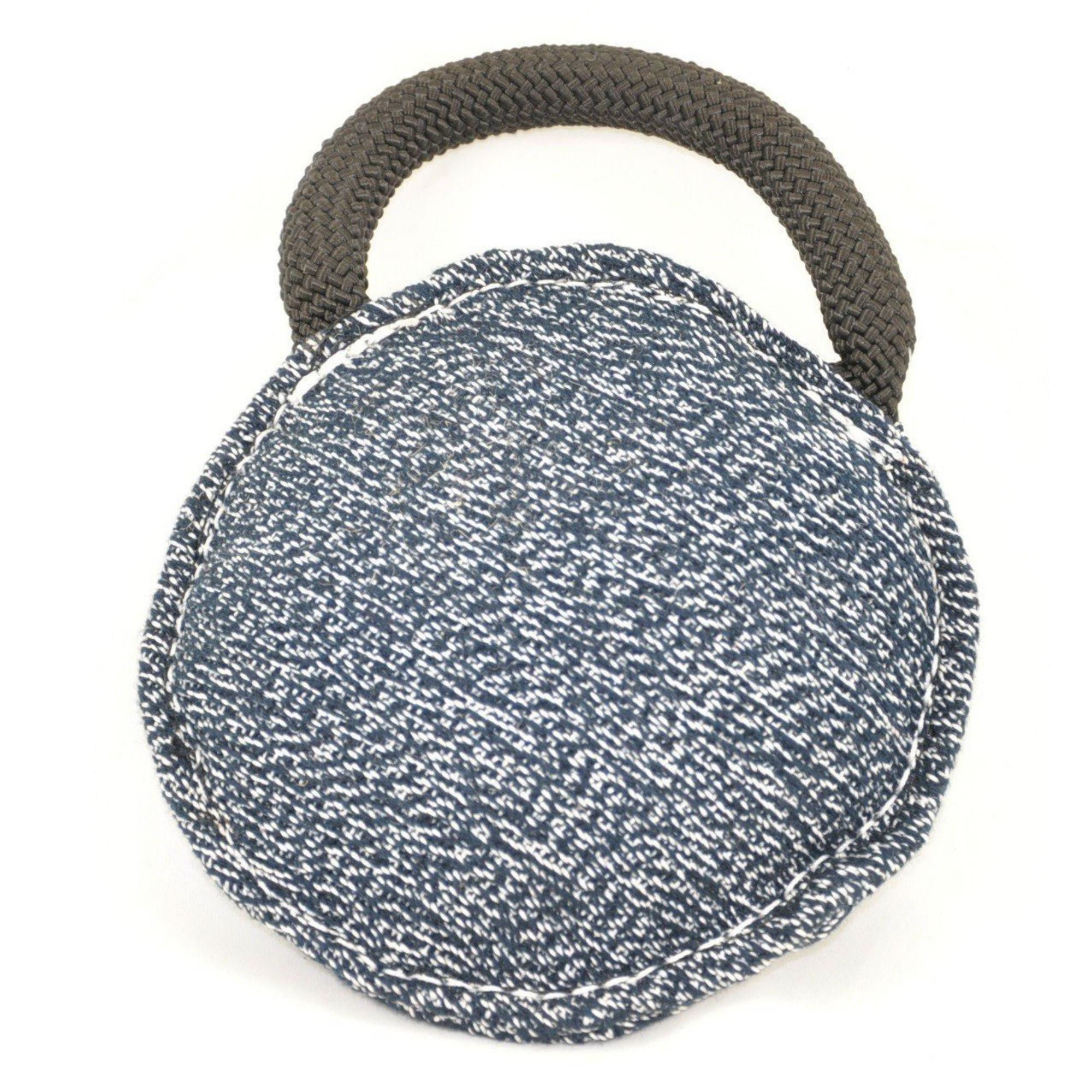 Viper Round Bite Pillow Dog Toy - French Linen