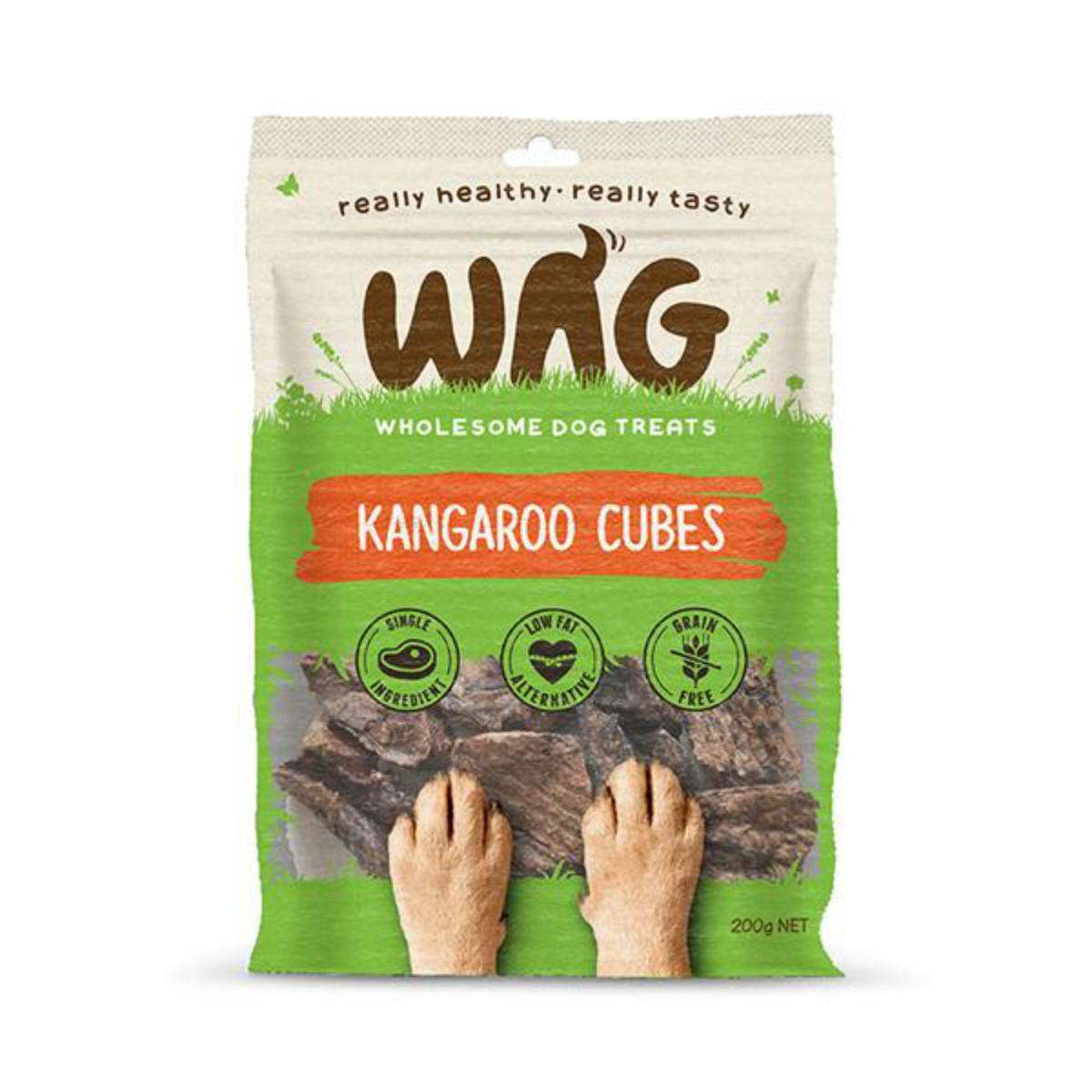 WAG Kangaroo Cubes Dog Jerky Treats