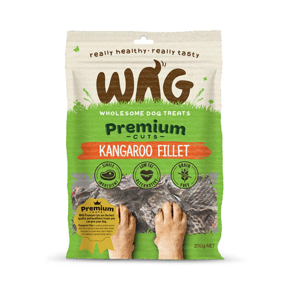 WAG Kangaroo Fillet Dog Jerky Treats