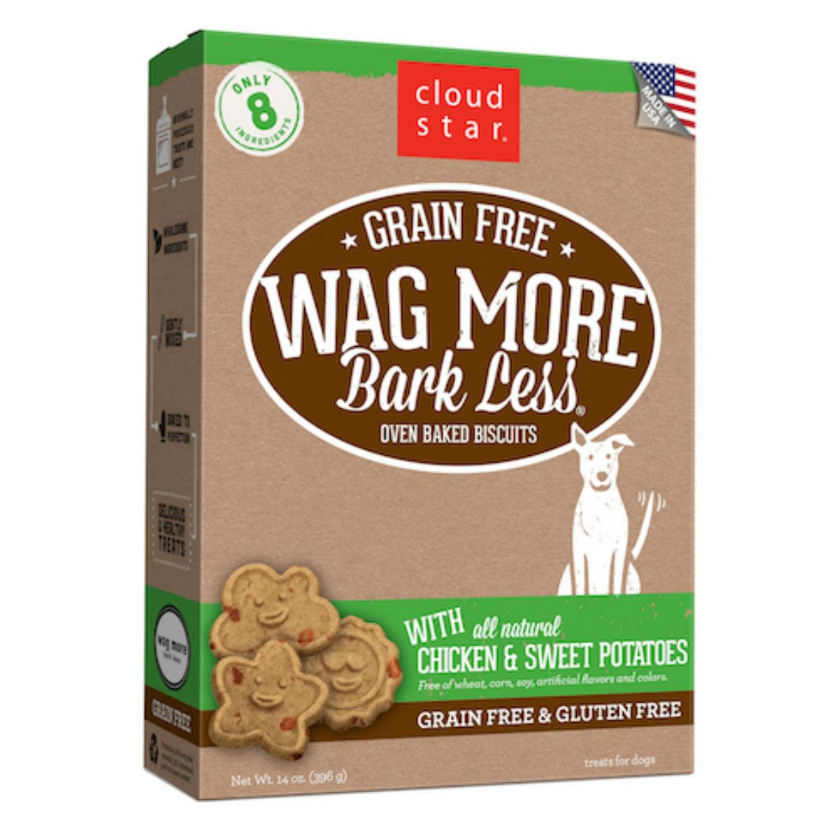 Wag More Bark Less Grain Free Baked Dog Treat - Chicken and Sweet Potato