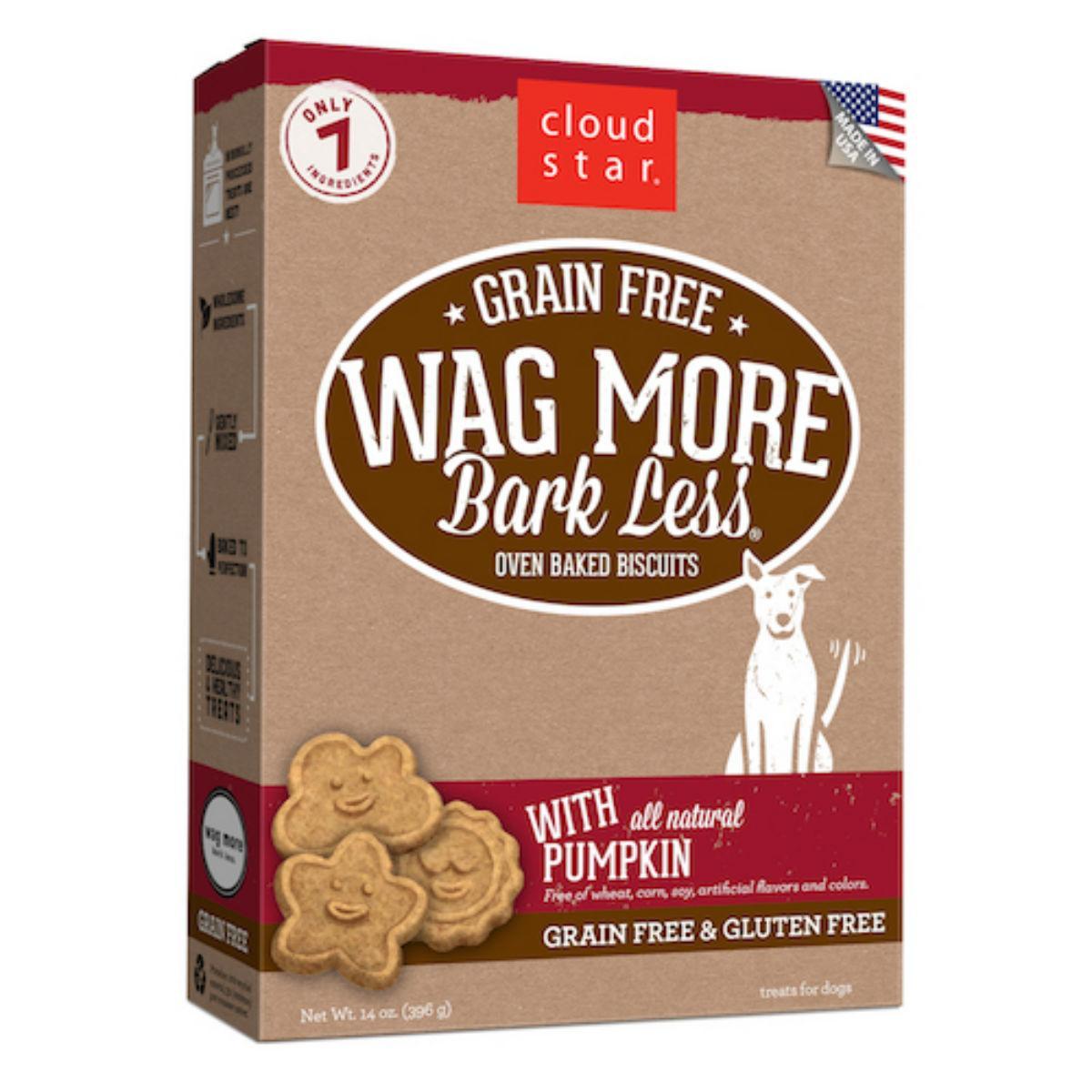 Cloud Star Wag More Bark Less Grain Free Baked Dog Treat - Pumpkin