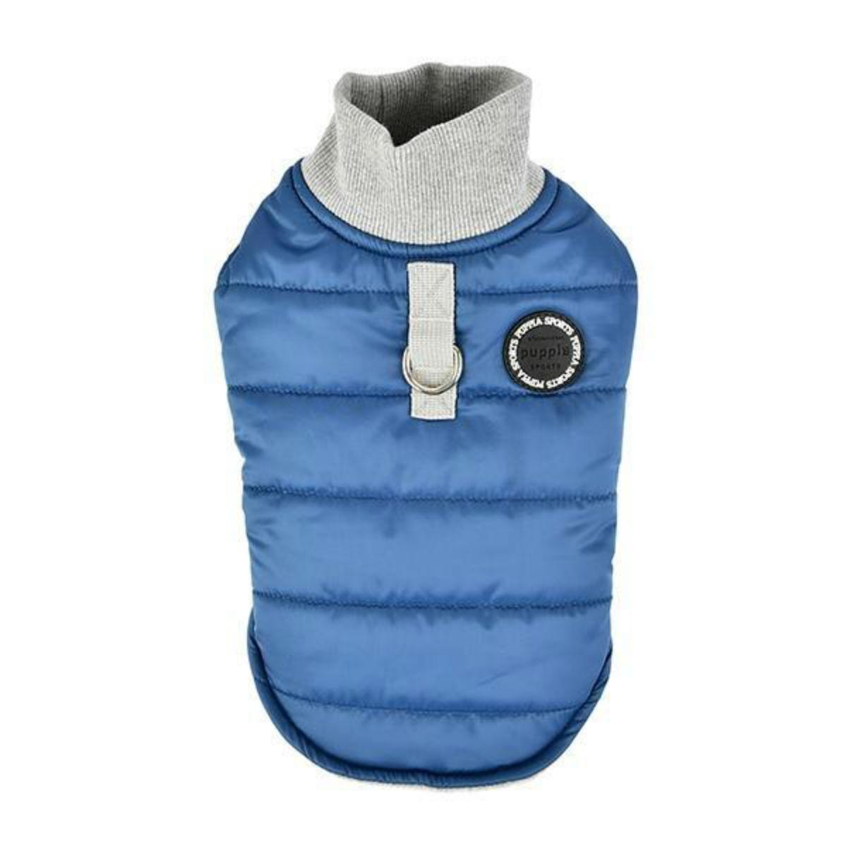 Wagner Quilted Dog Coat by Puppia - Blue