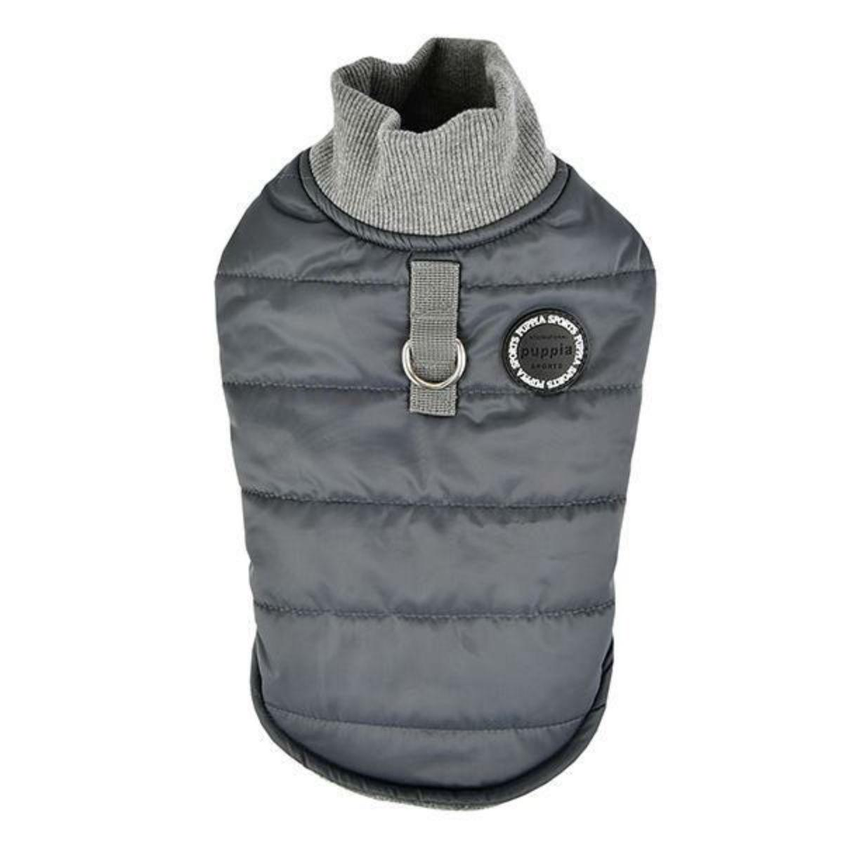 Wagner Quilted Dog Coat by Puppia - Grey