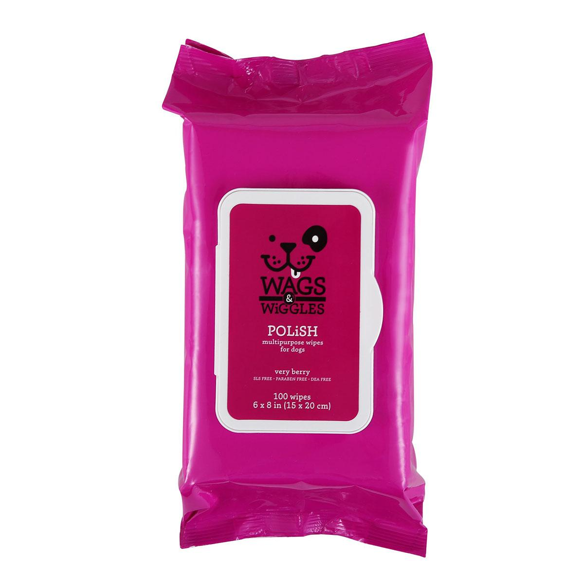 Wags & Wiggles Polish Multipurpose Wipes - Very Berry