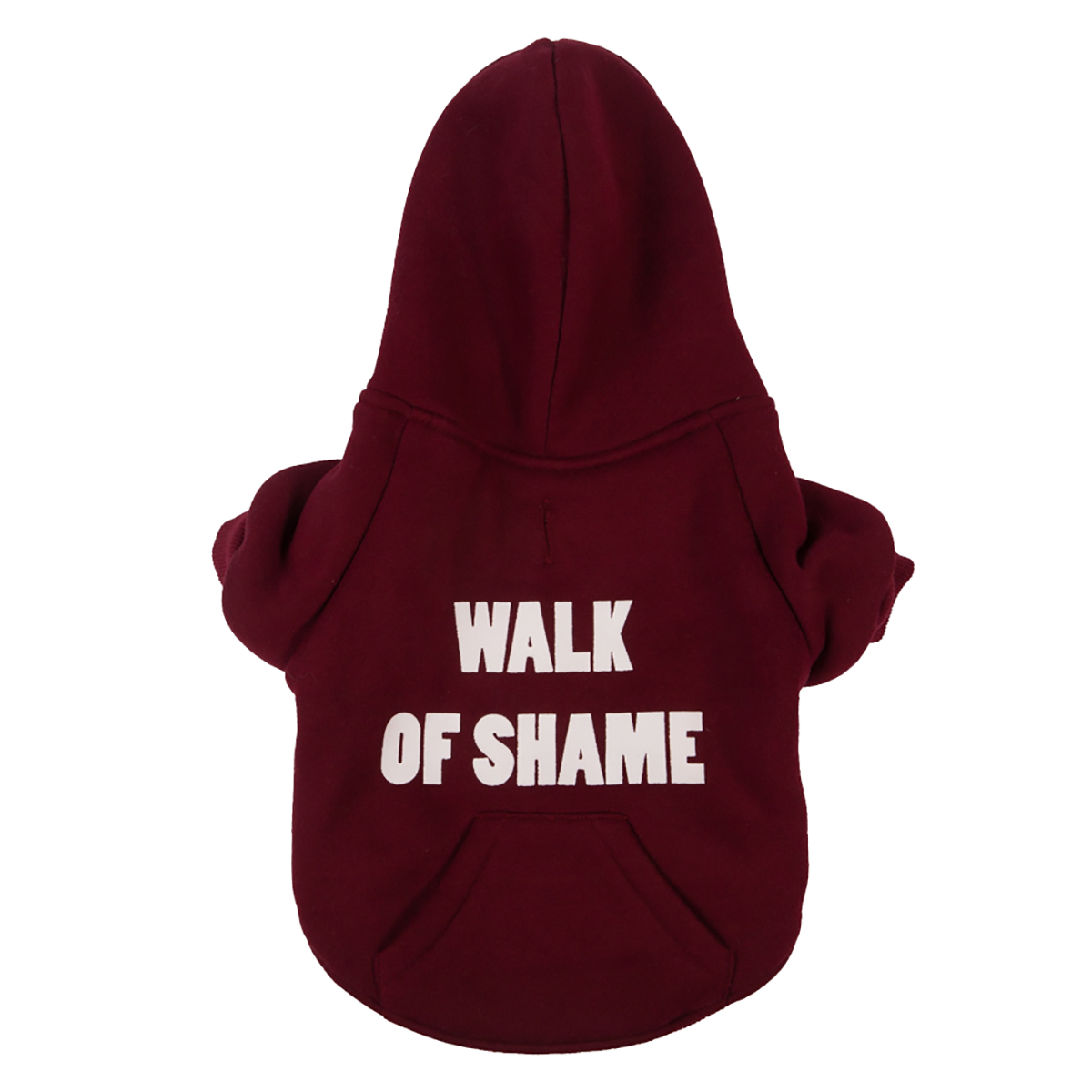 fabdog® Walk of Shame Thermal Lined Dog Hoodie - Burgundy