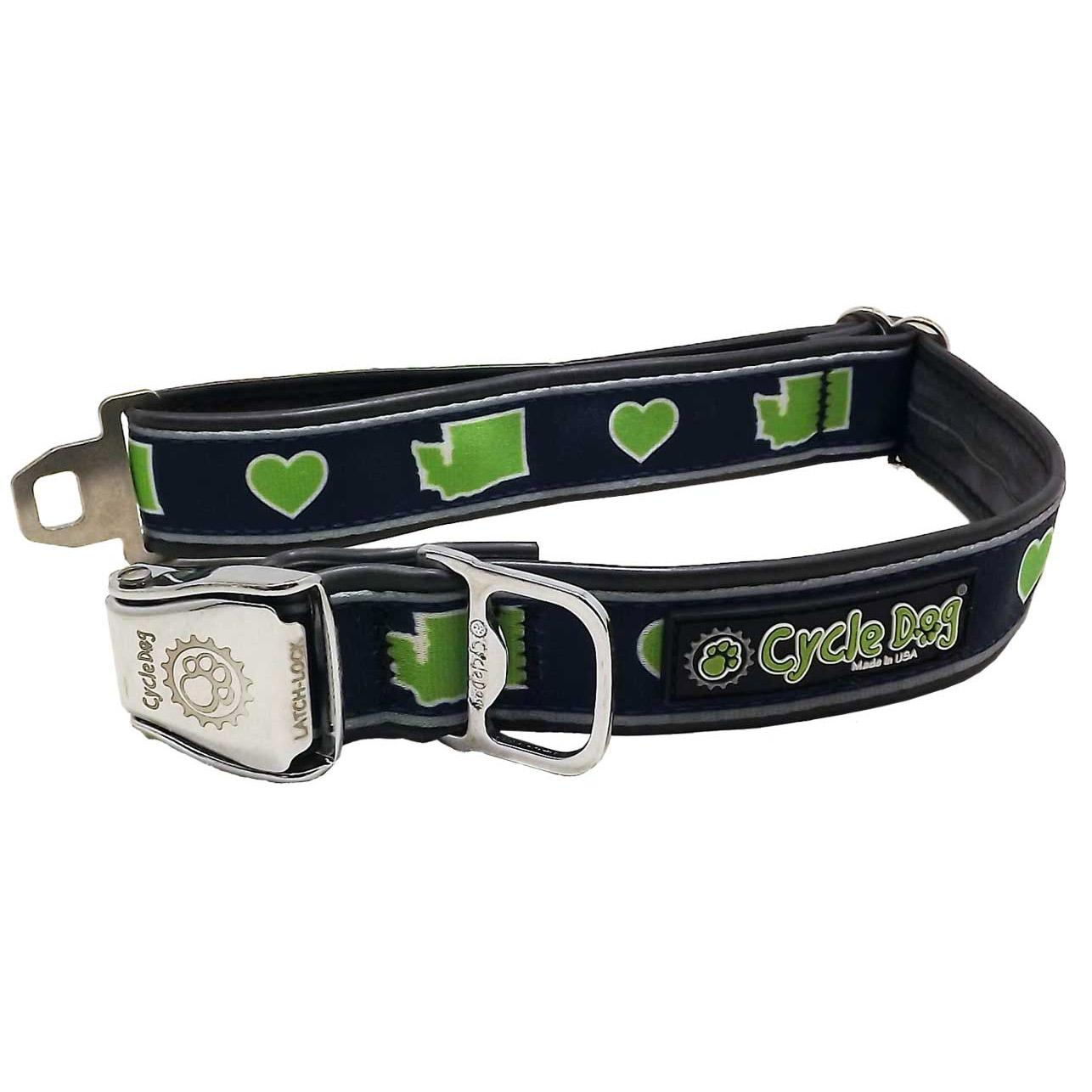Washington Love Metal Latch Dog Collar by Cycle Dog