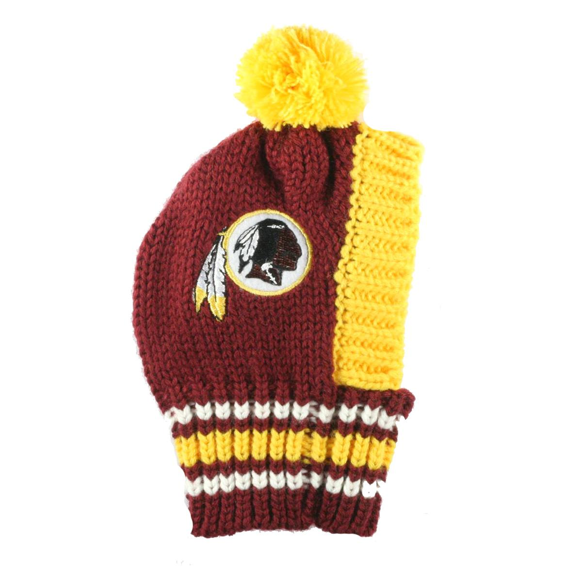 Washington Redskins Knit Dog Hat