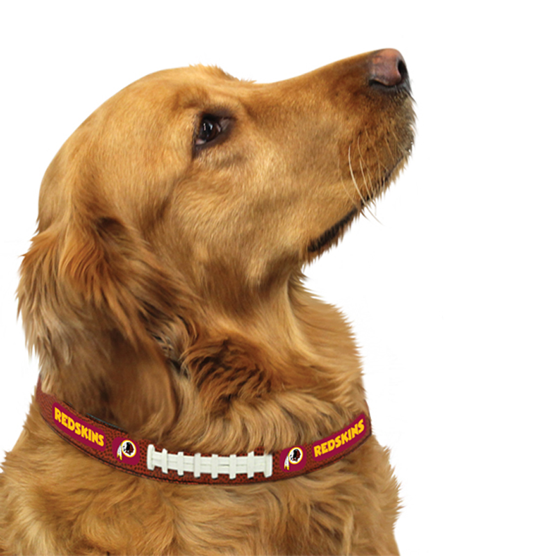 Washington Redskins Leather Dog Collar