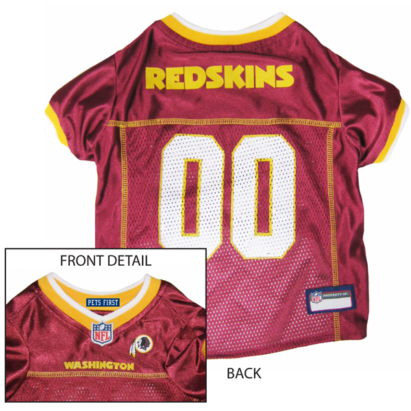 Washington Redskins Officially Licensed Dog Jersey - Gold Colored Trim