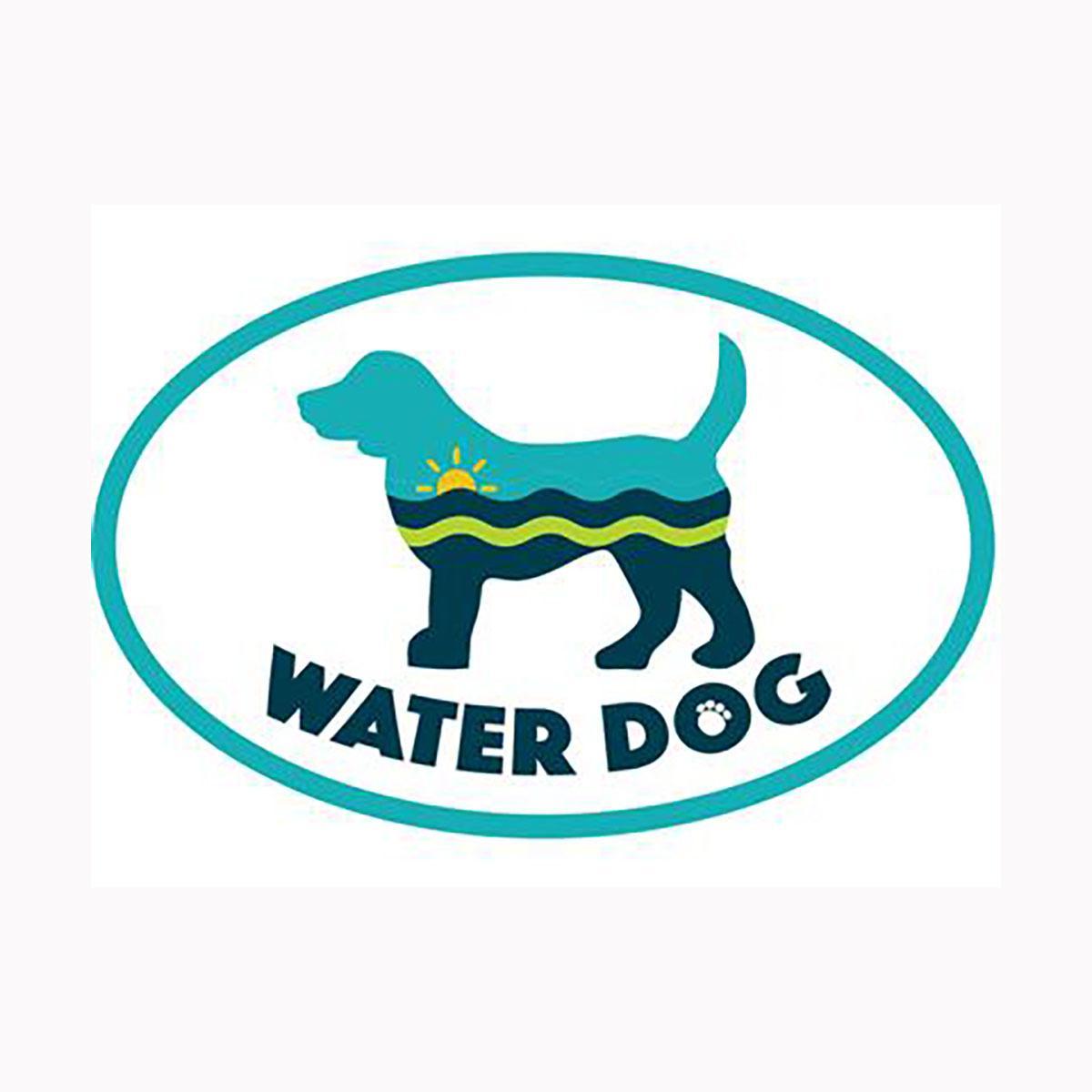 Water Dog Oval Magnet by Dog Speak