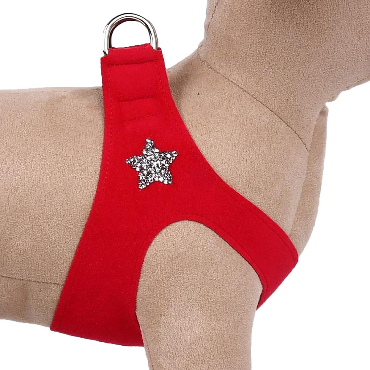 Rock Star Step-In Dog Harness by Susan Lanci - Red