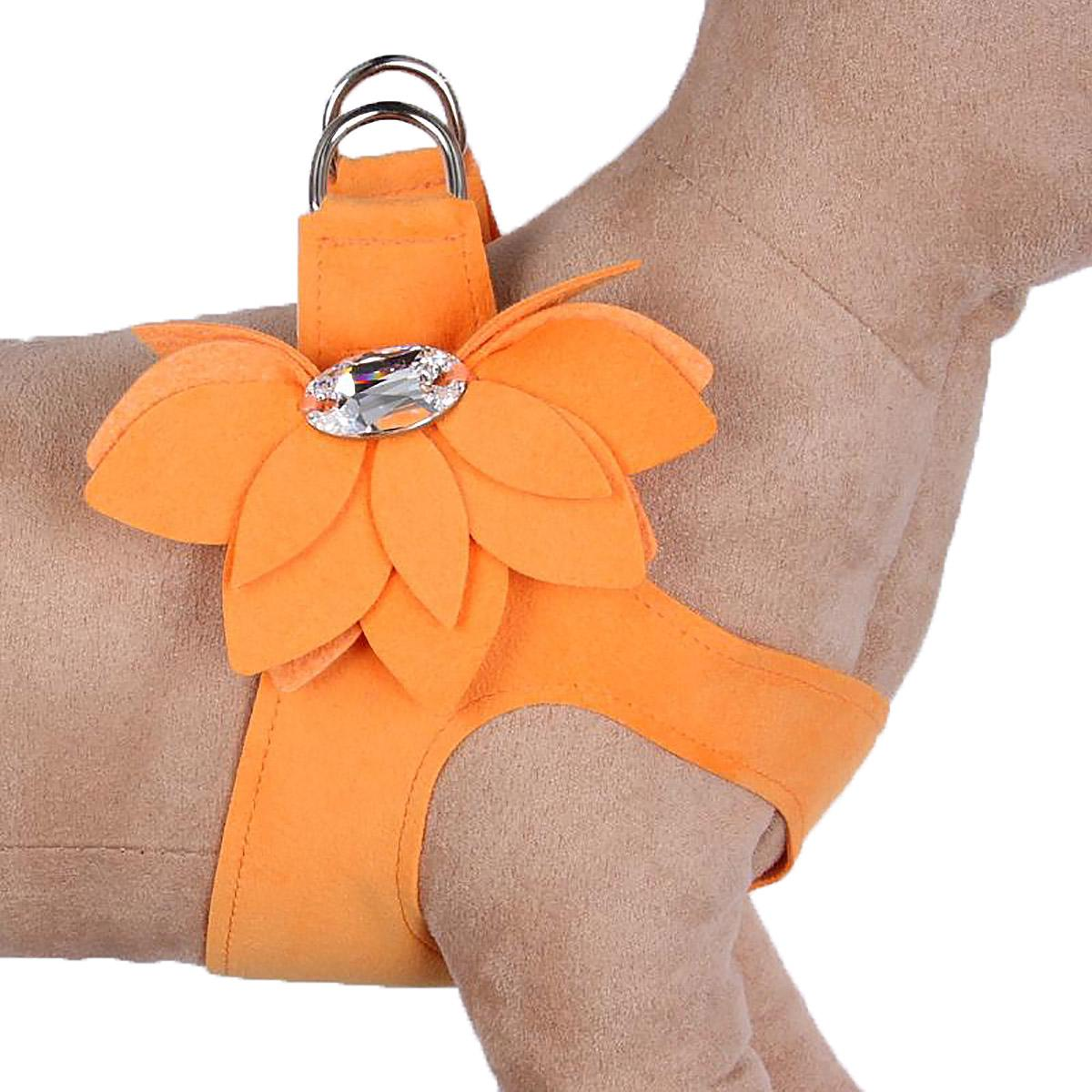 Water Lilly Step-In Dog Harness by Susan Lanci - Tangerine