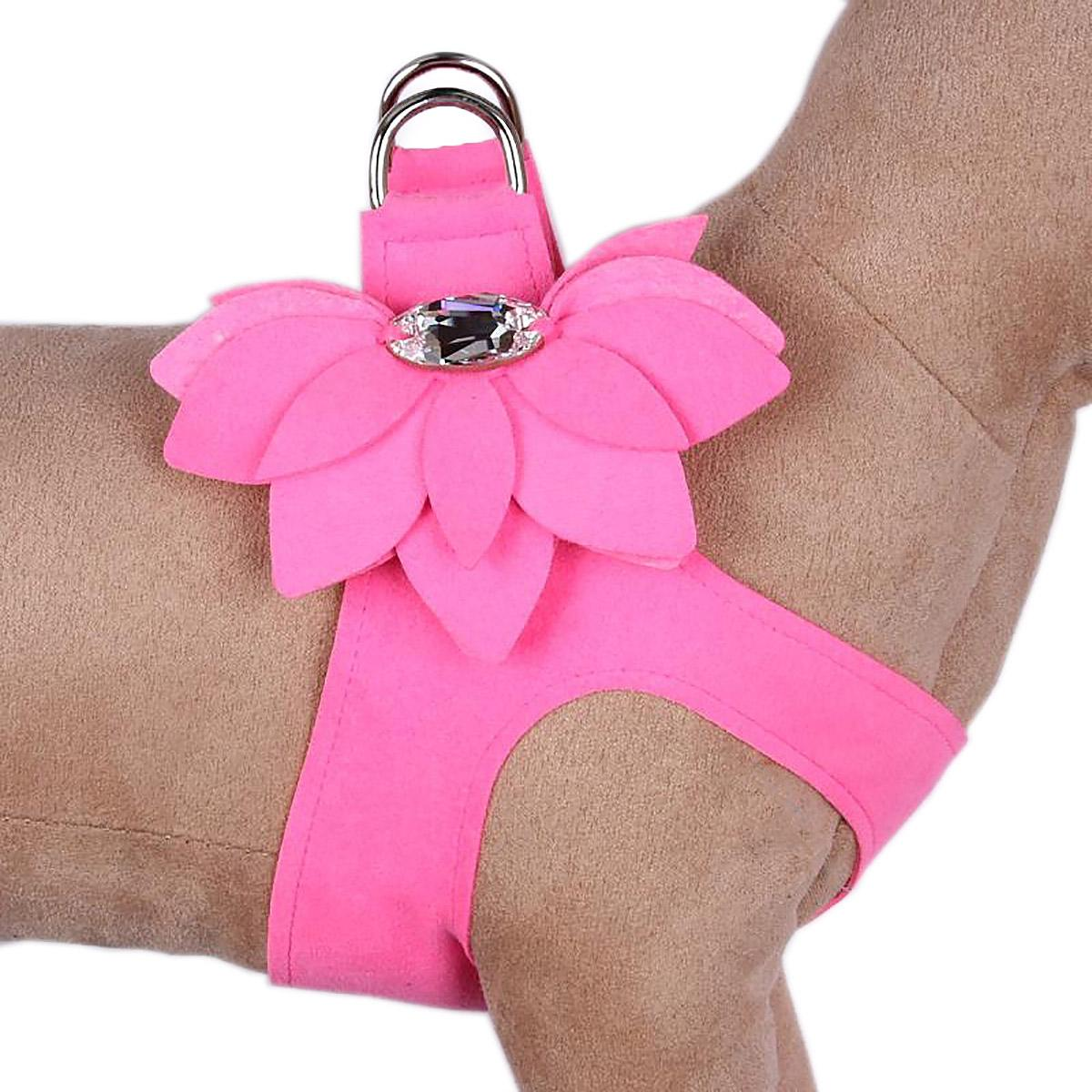 Water Lilly Step-In Dog Harness by Susan Lanci - Perfect Pink