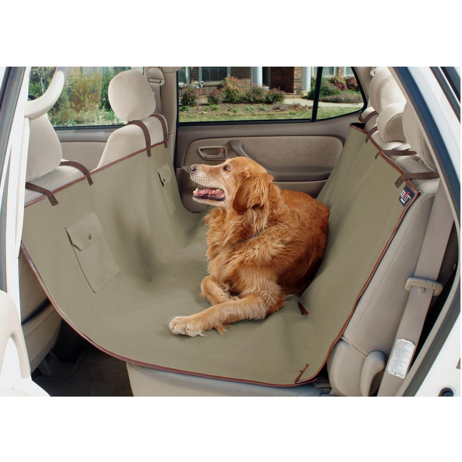 Waterproof Hammock Dog Car Seat Cover - Beige
