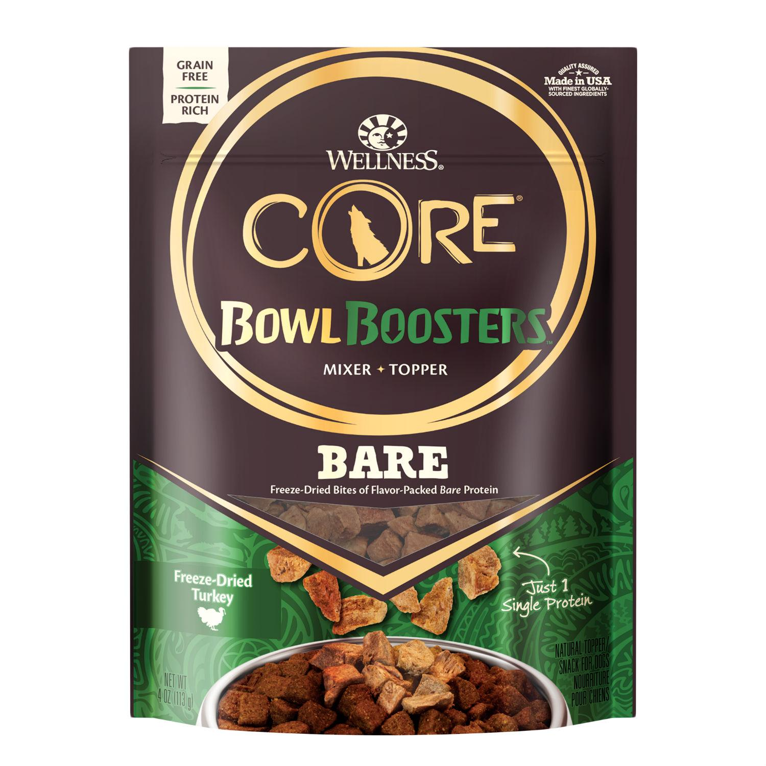 Wellness CORE Bowl Booster Dog Food Topper - BARE 100% Turkey