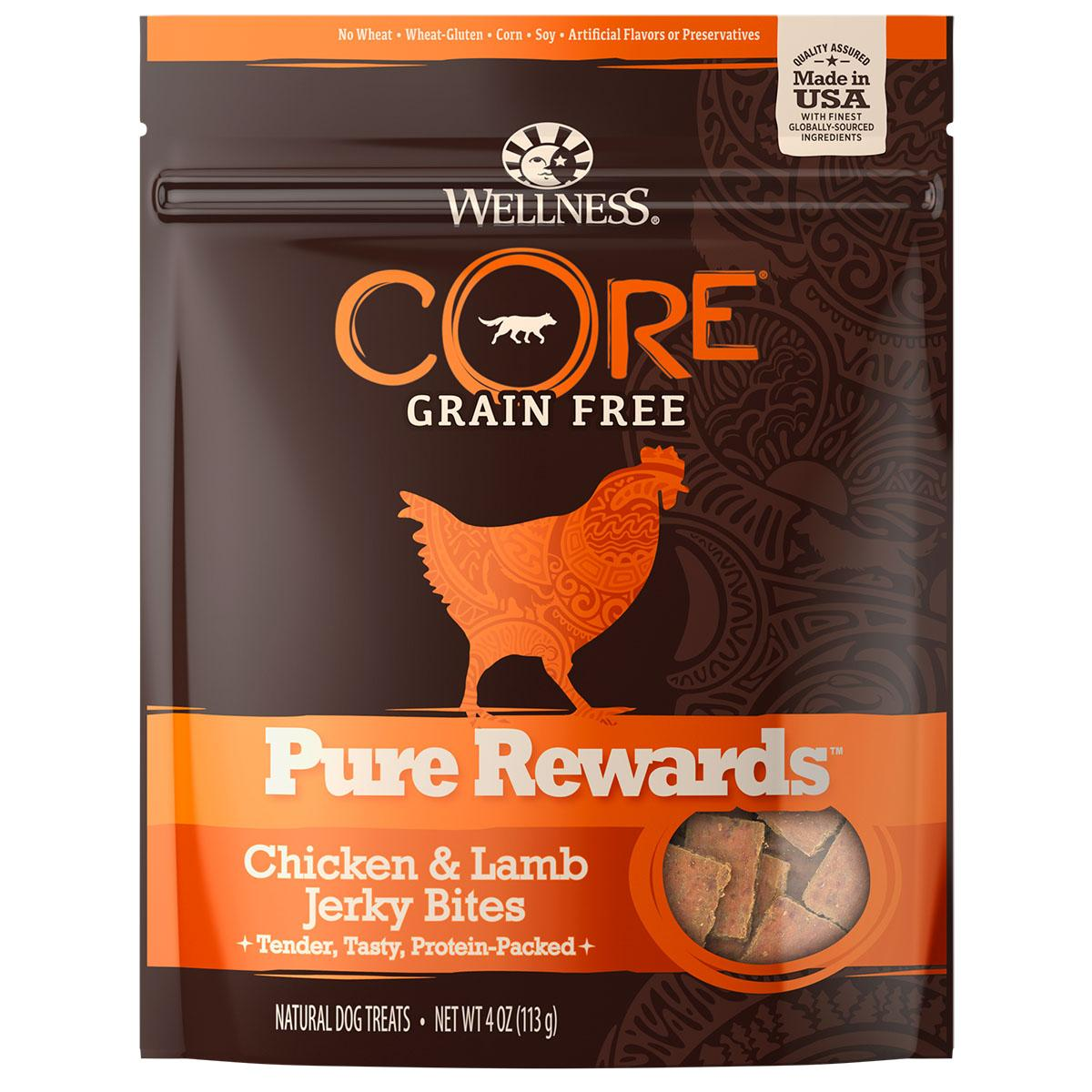 Wellness CORE Natural Grain Free Pure Rewards Jerky Bites - Chicken & Lamb