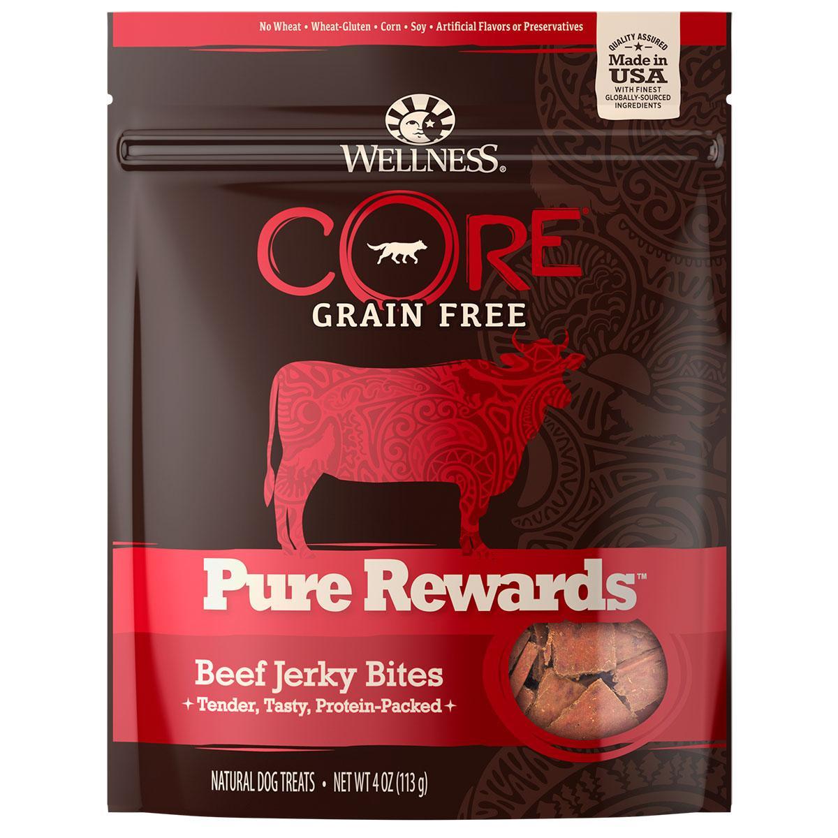 Wellness CORE Natural Grain Free Pure Rewards Jerky Bites - Beef