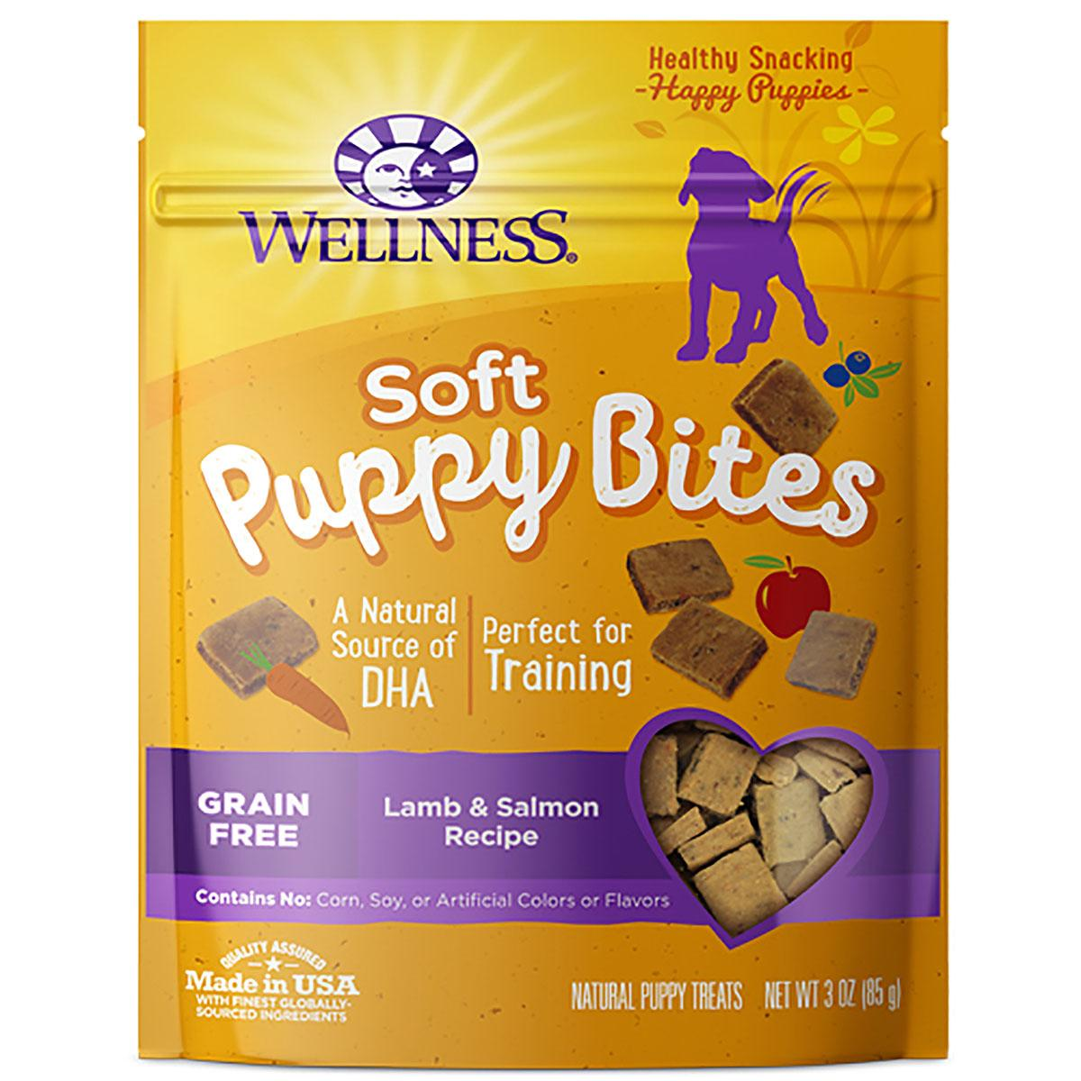 Wellness Natural Grain-Free Soft Puppy Bites Treats - Lamb & Salmon
